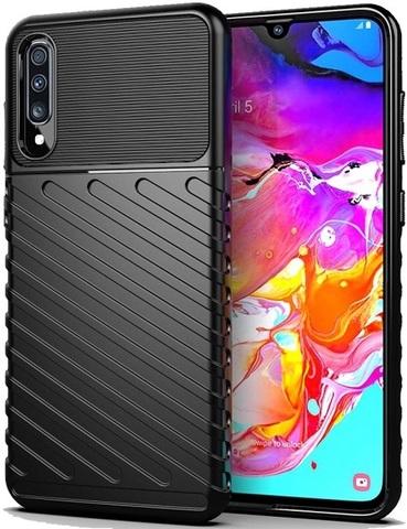 Чехол для Samsung Galaxy A70 (Galaxy A70S) цвет Black (черный), серия Onyx от Caseport