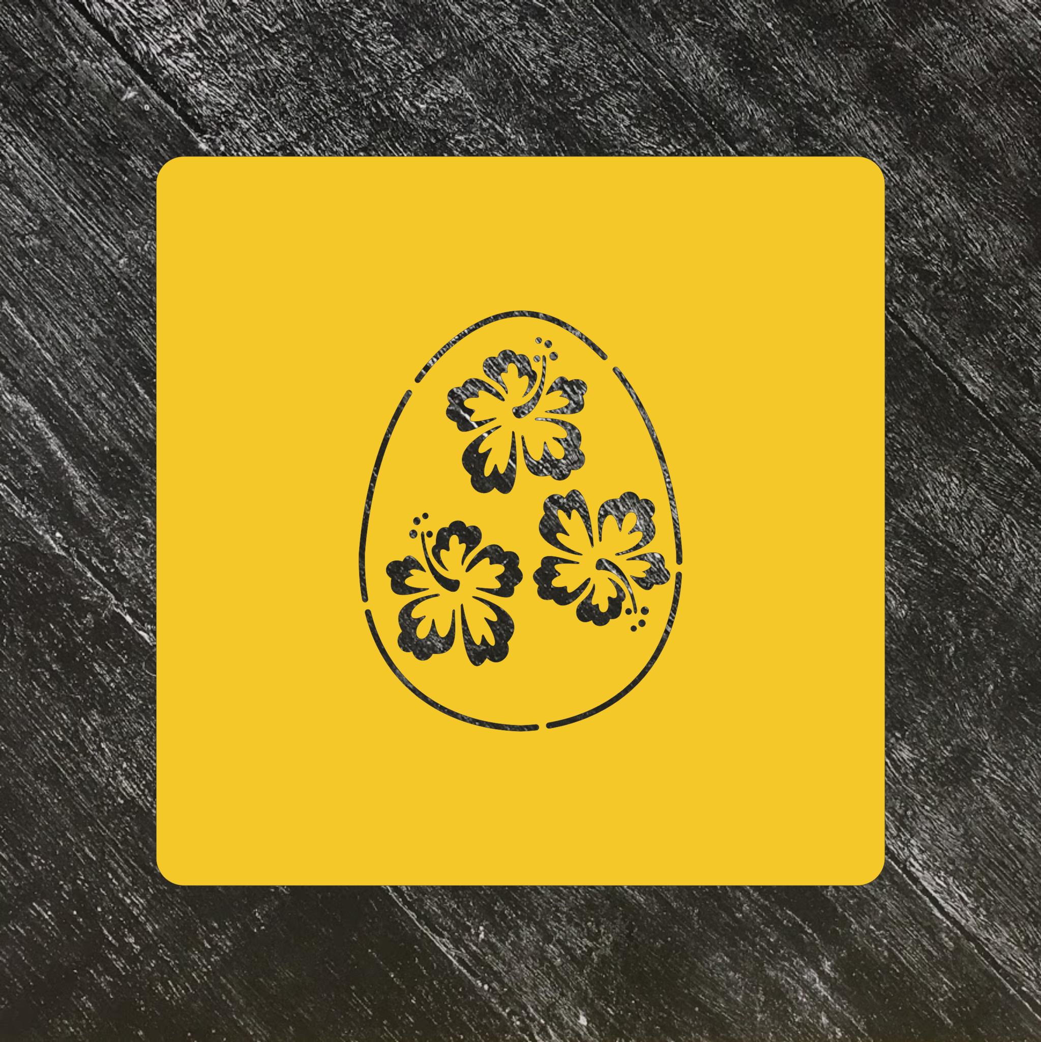 Трафарет Пасхальный №30 яйцо с цветами
