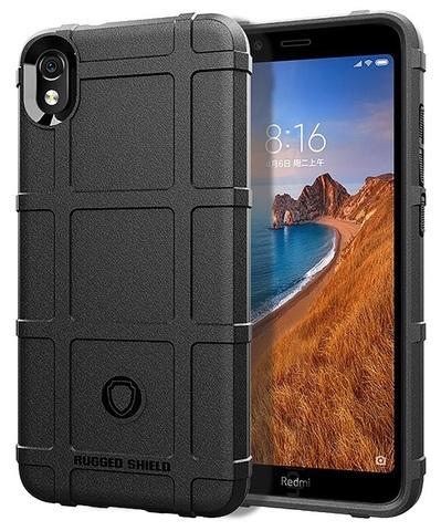 Защитный чехол на телефон Xiaomi Redmi 7A, черный цвет, серия Armor от Caseport