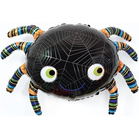 Фольгированный шар, Паук черный 86см.