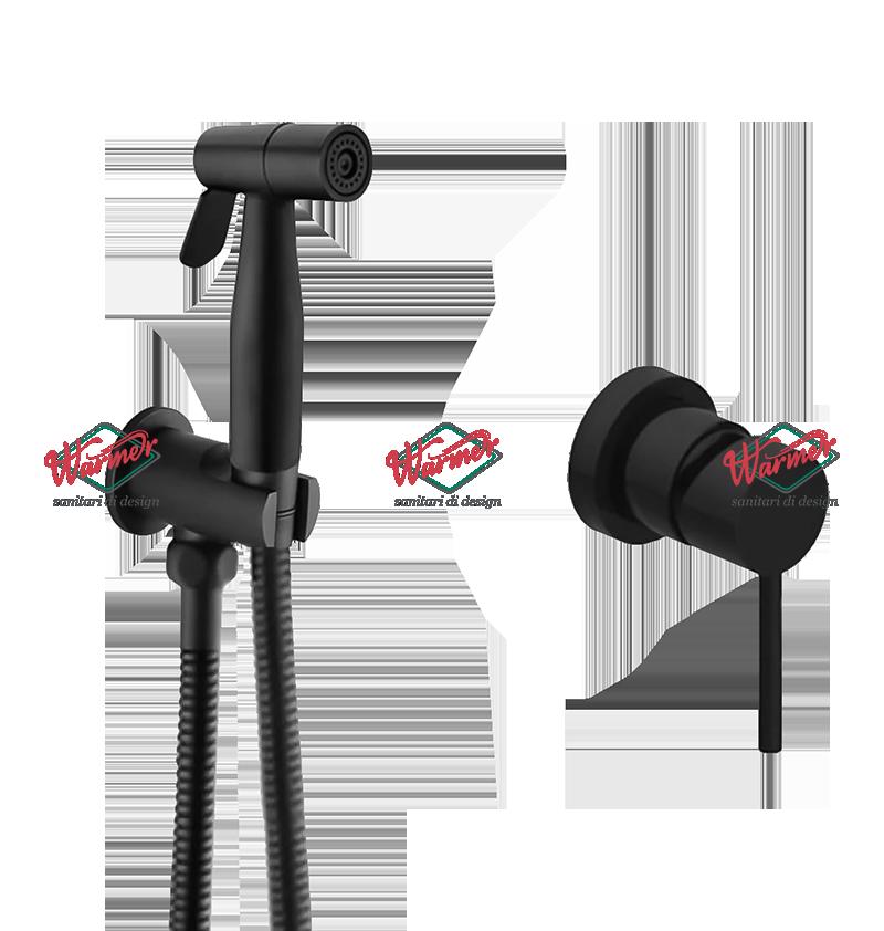 Гигиенические смесители Комплект гигиенического душа Warmer Black Line 126120 BL210-2.png