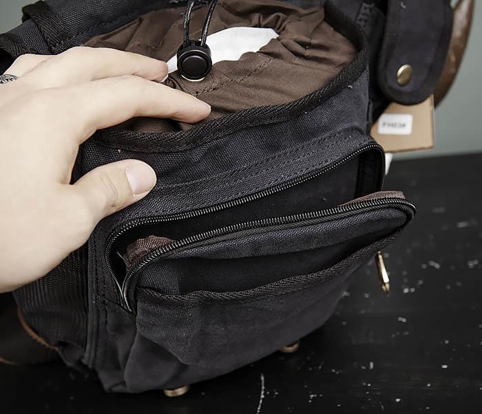BAG307-1 Мужская сумка черного цвета из текстиля отличного качества фото 10