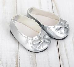 Обувь для кукол - туфли-балетки, 7 см, 1 пара.