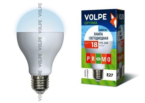 Volpe Лампа LED-A65-18W/NW/E27/FR/O Optima (белый свет)
