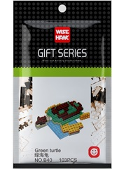 Конструктор Wisehawk Зеленая черепаха 103 детали NO. B40 Green turtle Gift Series