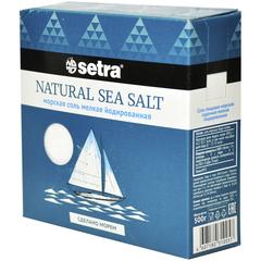 Setra Соль морская мелкая йодированная, 500г
