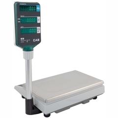 Весы торговые настольные CAS AP-1 (30M), RS232, 30кг, 5/10гр, 220x340, с поверкой, со стойкой