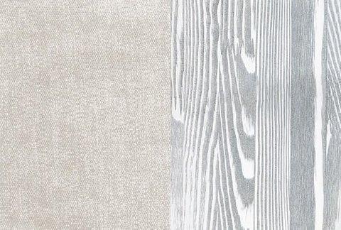 Ткань/Массив, Лофти Лён/Белая эмаль с патиной серебро (браширование)