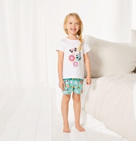 Комплект для девочки футболка+шорты Lupilu