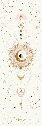 Коврик для йоги Munari 183*61*0,1-0,3 см из микрофибры и каучука