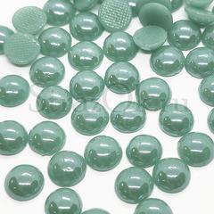 Купить оптом термоклеевой керамический полужемчуг бирюзовый Aquamarine