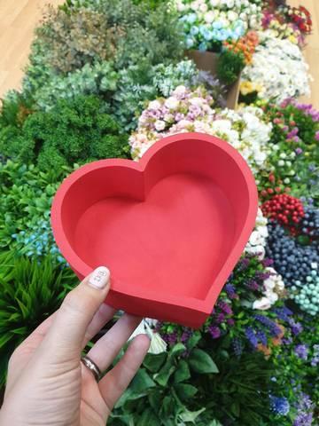 Пенобокс Сердце глубина 3см