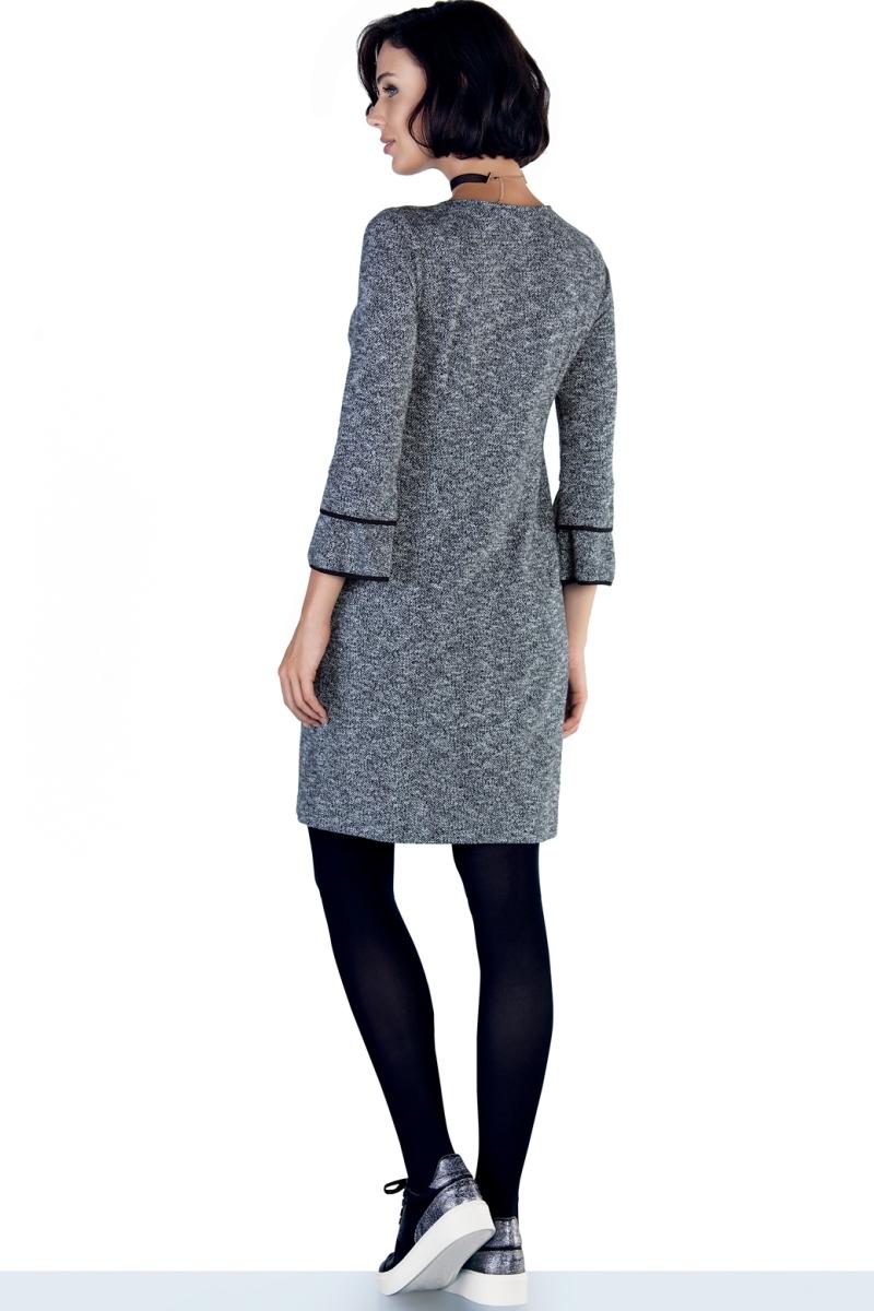 Фото платье для беременных и кормящих EBRU, трикотажное от магазина СкороМама, серый, размеры.