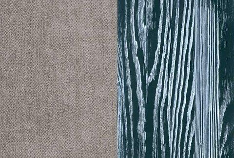 Ткань/Массив, Лофти Серый/Серая эмаль с белой патиной (браширование)