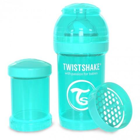 Twistshake бутылочка антиколиковая 180 мл. Бирюзовая (Sleepyhead)