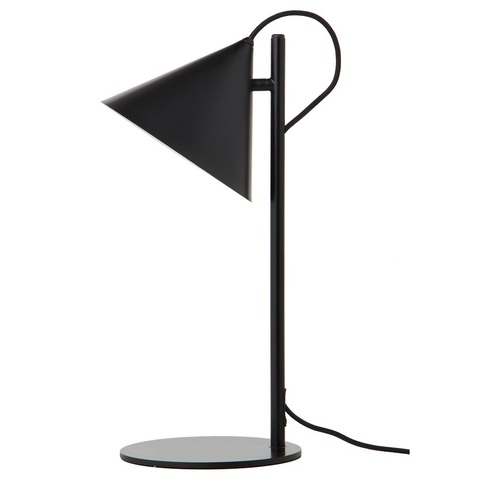 Лампа настольная Benjamin, черная матовая, черный шнур