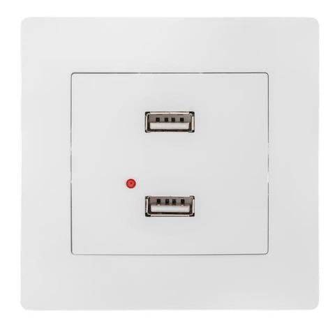 Розетка зарядка USB с рамкой. Цвет Белый. Bravo GUSI Electric. С10USB2-001-СБ