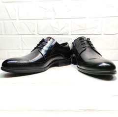 Черные туфли мужские кожаные классические koc 3416-1 Black Leather.