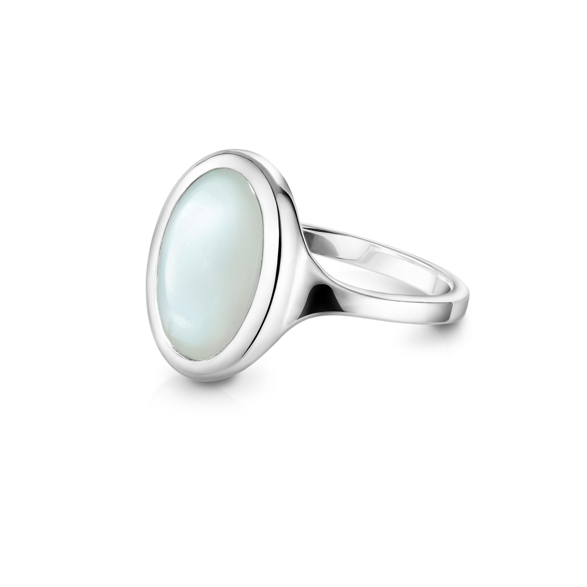Кольцо OMEGA - Шёлковый лунный камень