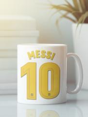 Кружка с изображением Лионель Месси (Lionel Messi) белая 009
