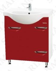 Тумба напольная SanMaria Милан-70, 1 ящик, корзина, вишневая