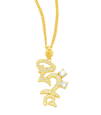 Кулон с ожерельем HRIH золото