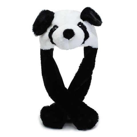 Шапка панда с ушками
