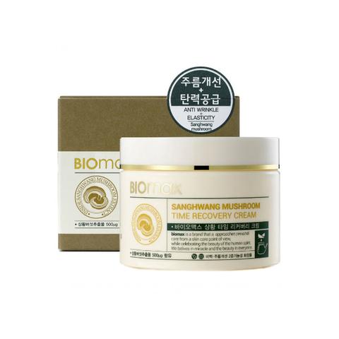 Biomax Крем для лица с экстрактом гриба санхван Sanghwang Mushroom Time Recovery Cream, антивозрастной, 100 мл