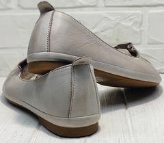 Удобные балетки туфли женские на маленьком каблуке Wollen G036-1-1545-297 Vision.