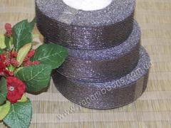 Лента парча серая ширина 2,5 см