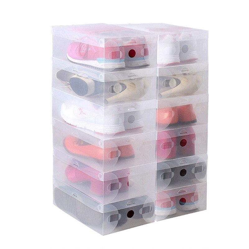 Системы для хранения вещей, органайзеры и кофры для одежды и обуви Пластиковая коробка для хранения обуви 33 см (5шт) plastikovaya-korobka-dlya-hraneniya-obuvi-27-sm.jpg