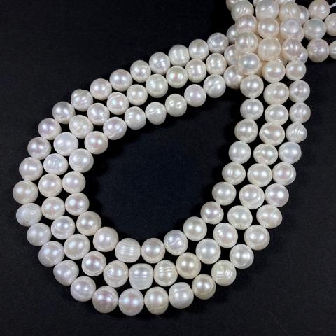 Жемчуг белый натуральный 8,5-9 мм