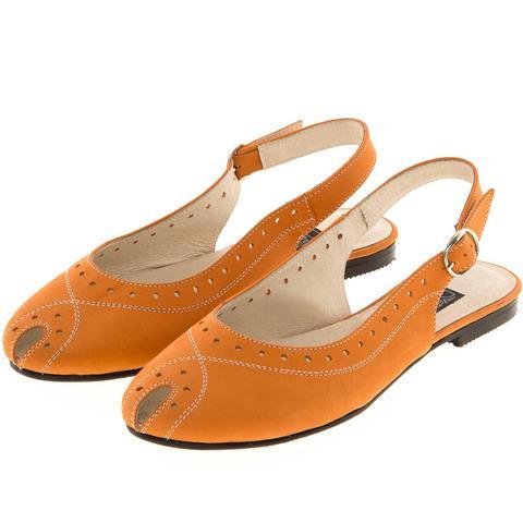 631198 туфли летние женские оранж. КупиРазмер — обувь больших размеров марки Делфино