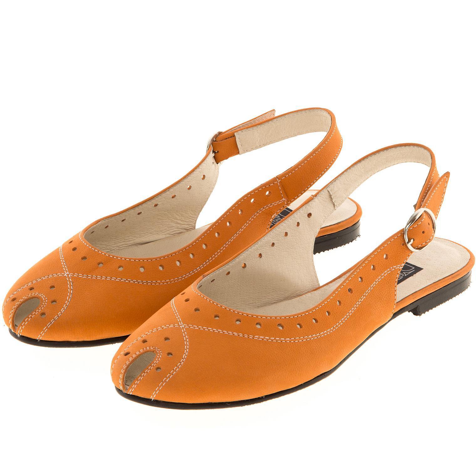 631198 туфли летние женские оранж больших размеров марки Делфино