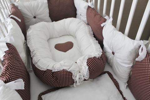 Комплект в кроватку Горошинка, на 4 стороны кроватки