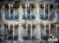Подарочный набор из 6 стаканов для виски «Держава», 225 мл, фото 2