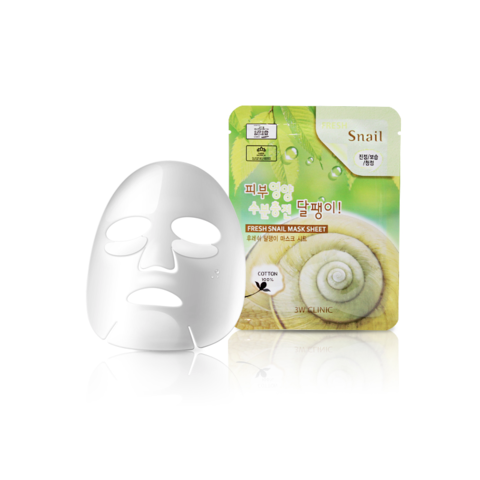 Тканевая маска с муцином улитки 3W Clinic Fresh Snail Mucus Mask Sheet