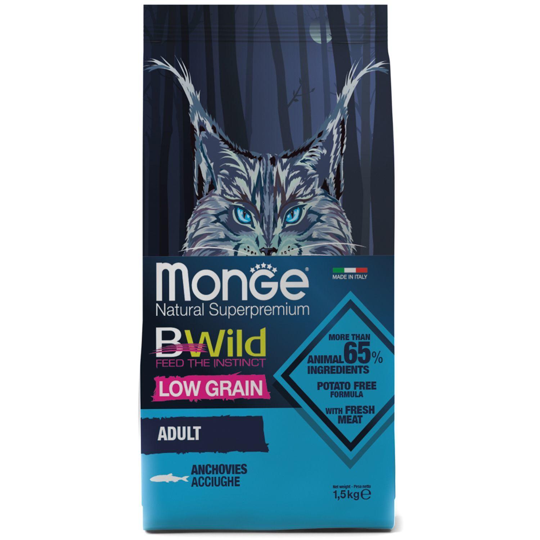 Сухой корм Корм для кошек Monge BWild Cat Anchovies с анчоусами 70012010_1.jpeg