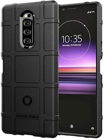 Чехол на Sony Xperia 1 цвет Black (черный), серия Armor от Caseport