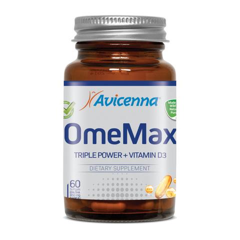 AVICENNA | OmeMax с витамином D3 (600МЕ), (60 гелевых капсул по 1700 мг)