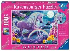 Puzzle Glitter Unicorn 100 pcs