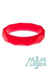 Молочный браслет из пищевого силикона МАМидея красный