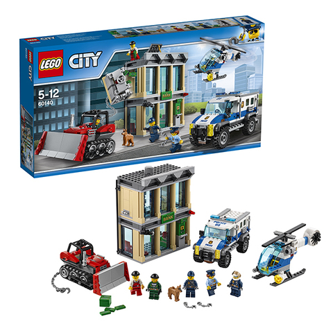 LEGO City: Ограбление на бульдозере 60140 — Bulldozer Break-In — Лего Сити Город