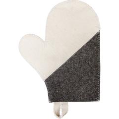 Рукавица для бани «Комби», войлок 100%