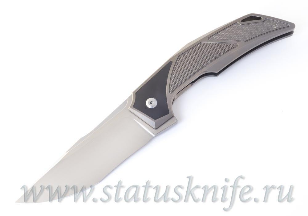 Нож CKF/BHARUCHA Justice (М390, титан, цирконий, ручной сатин) - фотография