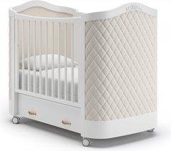 Кровать детская Тиффани декор ромб белый