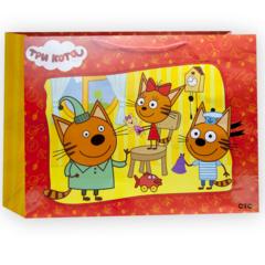 Пакет подарочный, Три Кота, 46*61*20 см, 1 шт.