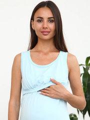 Мамаландия. Комплект для беременных и кормящих, цветы/голубой