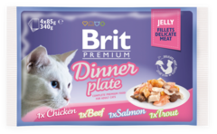 Паучи для кошек, Brit Premium Cat Jelly Dinner Plate