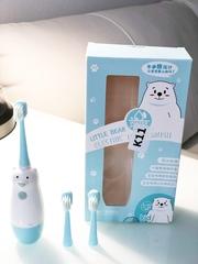 Электрическая зубная щетка  детская (Electric tooth brush) голубая